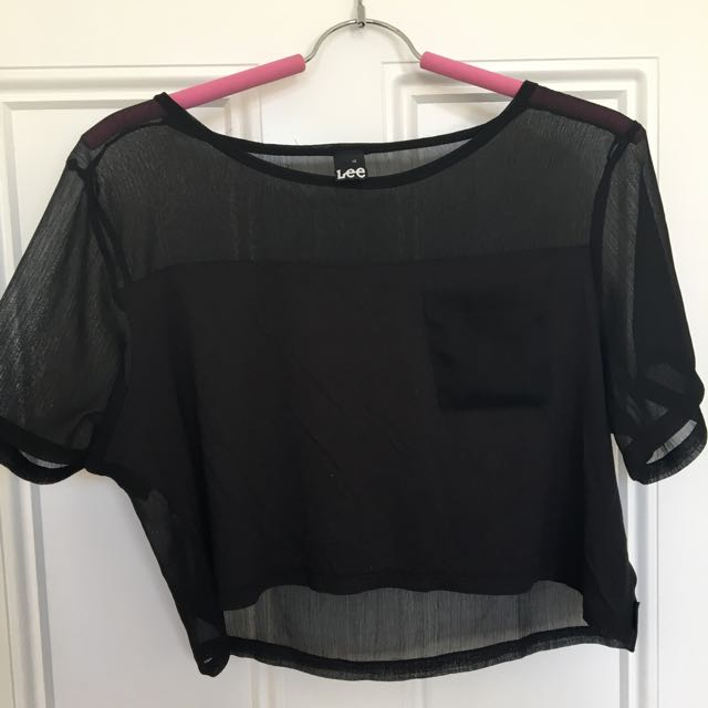 Lee Brand Cropped Tee - Size 10