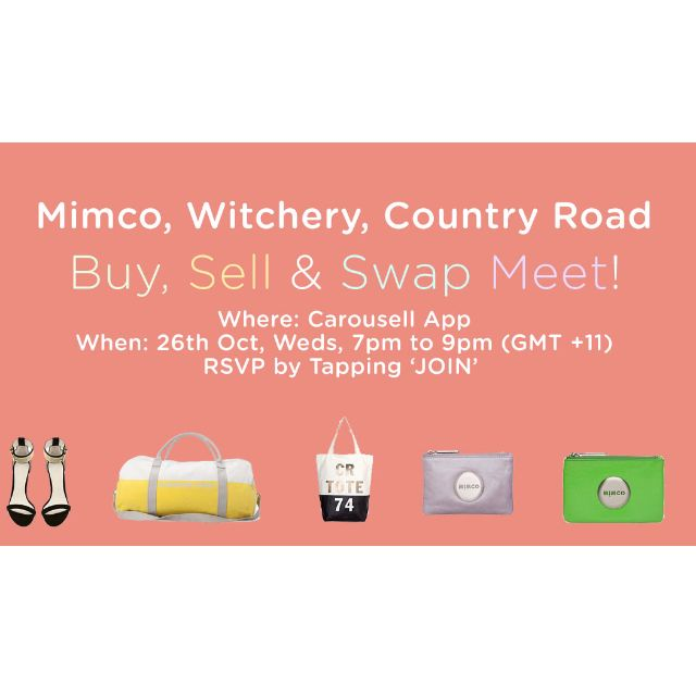 LIVE Buy-Sell-Swap Meet: Mimco, Witchery, Country Road (7pm