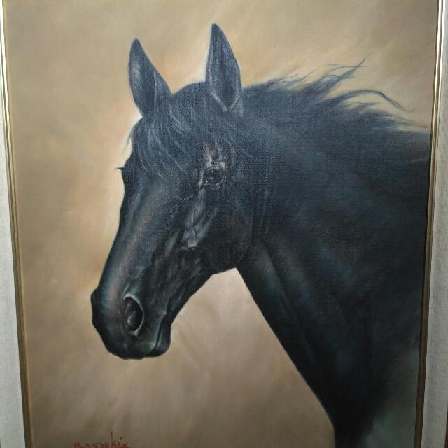 "Lukisan ""Black Horse"" R. Basoeki Abdullah"