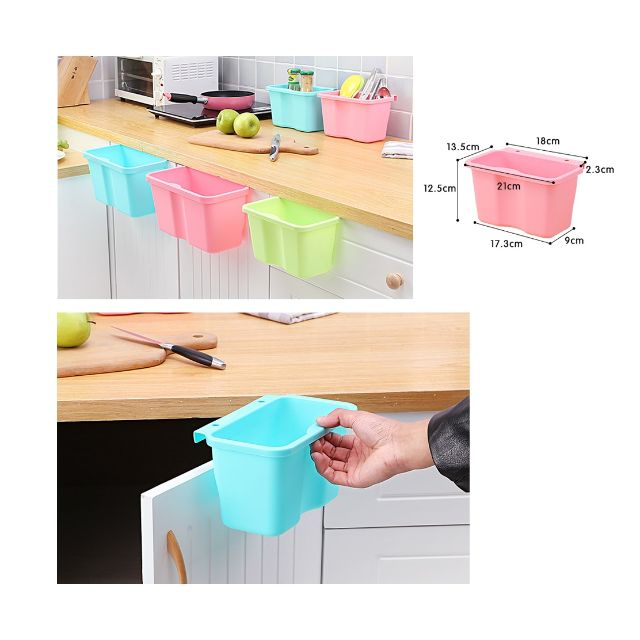 Multi Purpose Plastic Kitchen Cabinet Door Hanging Trash Garbage Bin