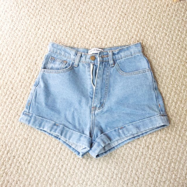 NEW American Apparel Jean Shorts