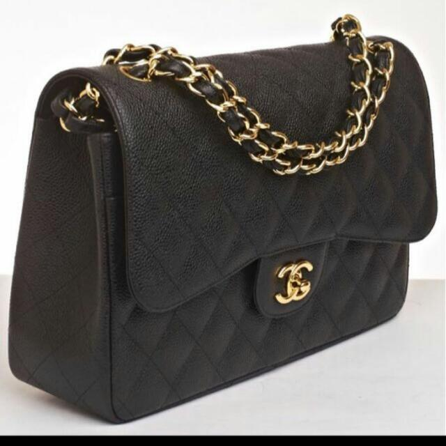 Chanel Jumbo Classic Double Flap Bag (Caviar Gold Hardware) d54c59c1f