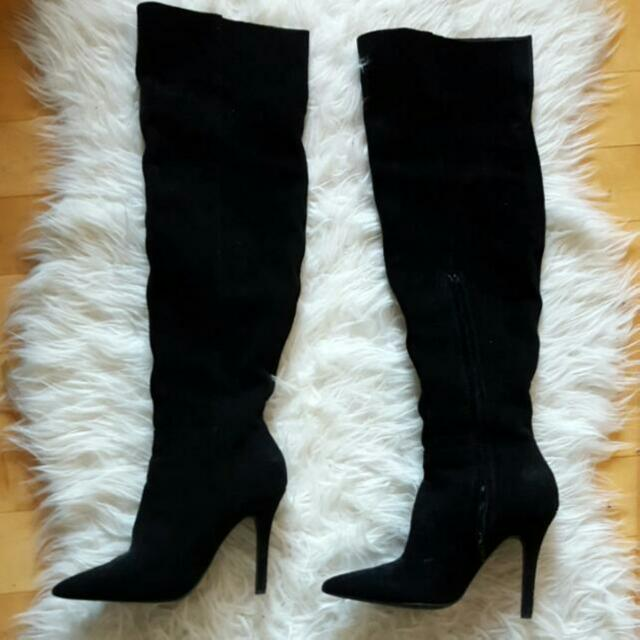 New Over The Knee Read Suede Sexy Stiletto Boots Aldo