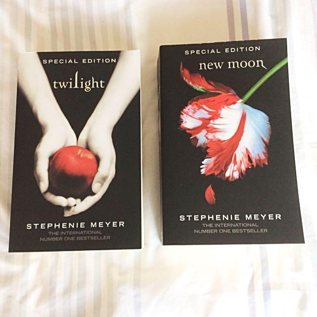 Original Twilight Book, Original New Moon Book