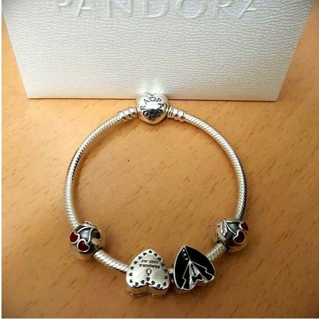 Pandora Wedding Charm Bracelet - Bride, Groom, Heart Gift Box ...