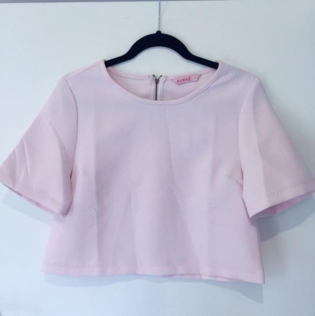 Pink Crop Tshirt
