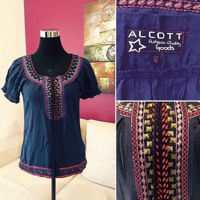 Preloved ALCOTT Boho Top