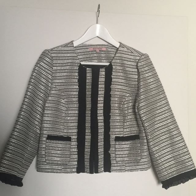Review Size 12 Tweed Jacket