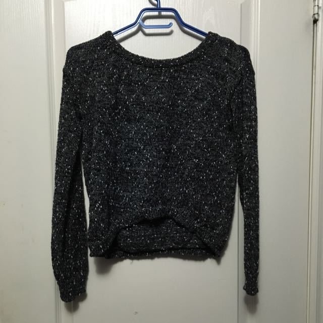 Salt and Pepper Semi Crop Sweater