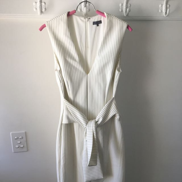 SHEIKE Scuba Material Pinstripe Dress - Size 12