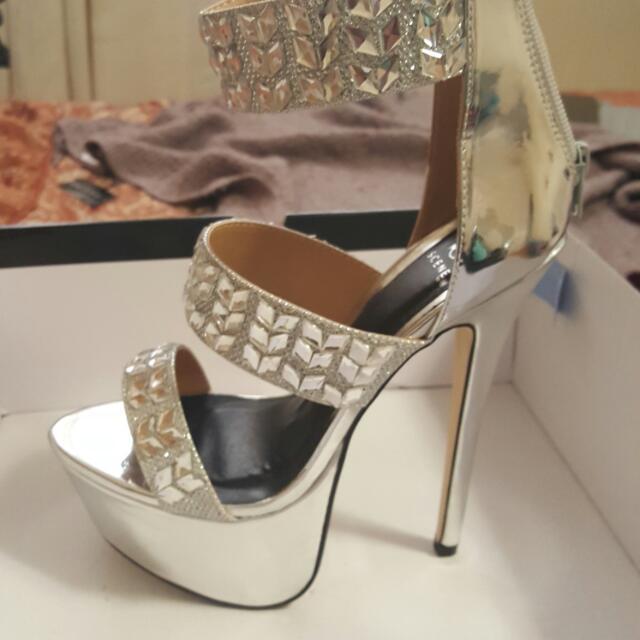 Silver High Heels/ Platforms