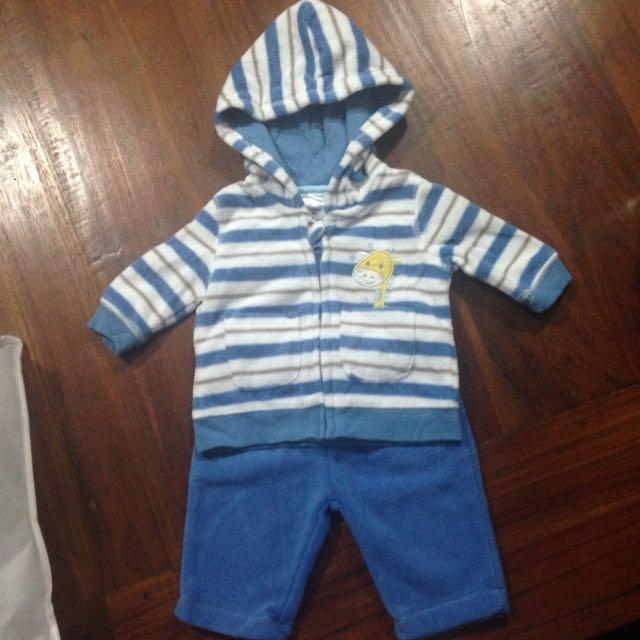 Size 000 Boys Fleece Suit