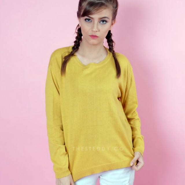 Steddy Store Sweater Loose Banana