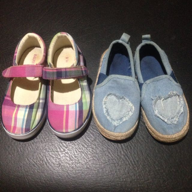 toddler Shoes Take Both (RL & H&M)