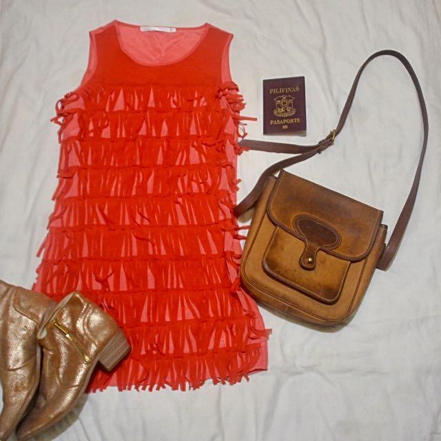 Tomato Earth Orange Dress