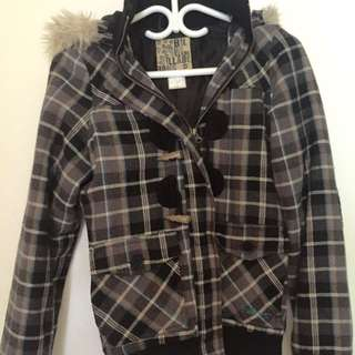 Small Billabong Coat With Removable Fur Hood