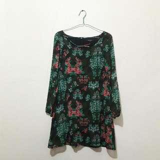 Green FLOWERS Dress - Insight Size 10