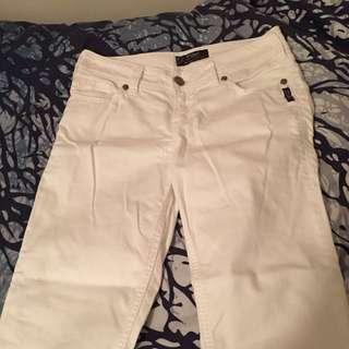 White Boyfriend Style Jeans
