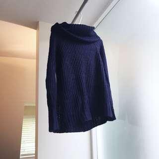 TOBI Navy Blue Knit Sweater