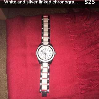 White Linked Women's Watch