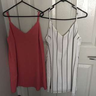 Cotton Slip Dress(white One)