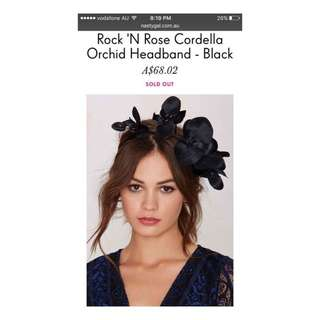 Black Orchid Headband