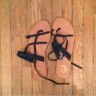 Urban Outfitters Sandals In Black