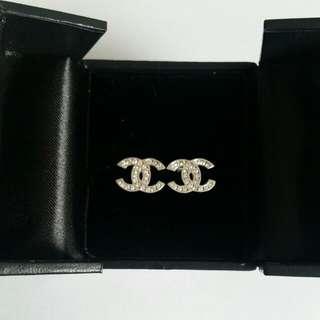 Diamond Chanel Inspired Earrings