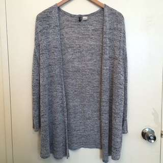 Flowy Speckled Gray Cardigan