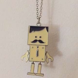 Moustache Robot Chain Necklace