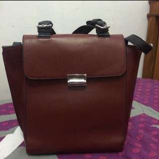 Zara Basic Maroon Bag