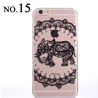 PO Silicone Phone Cases With Black Prints