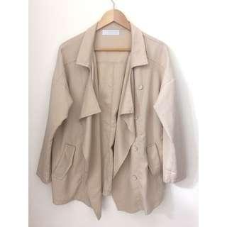 杏色開襟外套