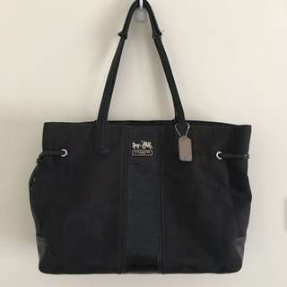 Coach Black Stripe Charlie Shoulder