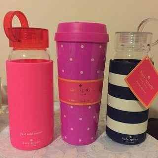 3 Kate Spade Bottles/Cup