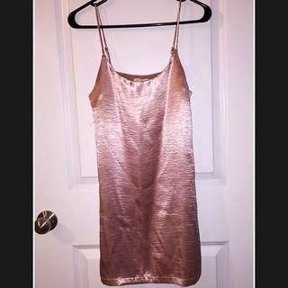 silence + noise Pink Slip Dress