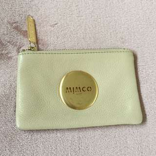 Mimco Gold Leather Pouch