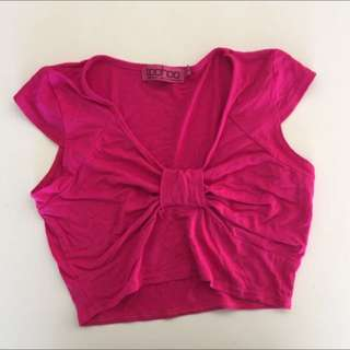 Boohoo Pink Crop Top Size 10