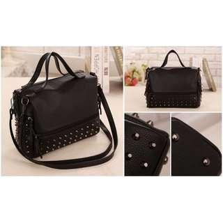 NS0192 Black, Red - Tote Bag, Tas Selempang, Hand Bag - Tas Import - Tas Wanita Murah