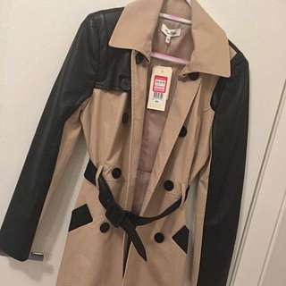 Miss Shop Leather Trench Coat