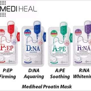 Newest Korean Mediheal Proatin Masks