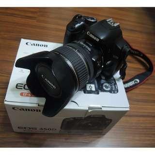 【出售】Canon 450D 數位單眼相機 彩虹公司貨 盒裝完整