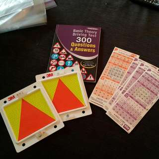 Unused P plate, BTT Reviewer and Coupon Tickets