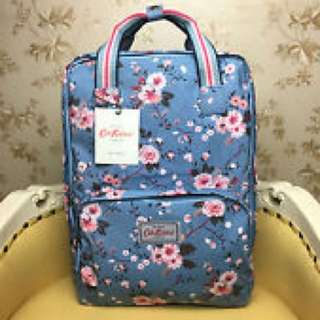 Cath Kidston Matt Coated Flower Backpack (Kingswood Rose Print)