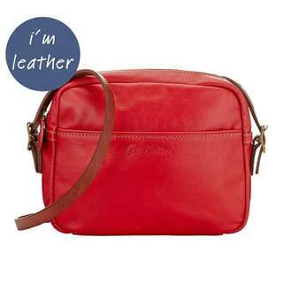 BNIB Cath Kidston Red Mini Leather Sling/Cross Body
