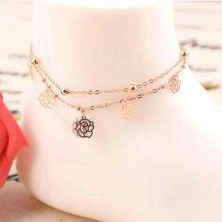 [READY] Gelang Kaki diamond decorated rose shape design