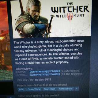 The Witcher 3 Wild Hunt On Steam