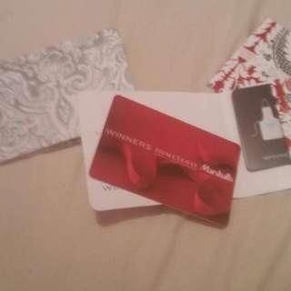 selling  winner gift card