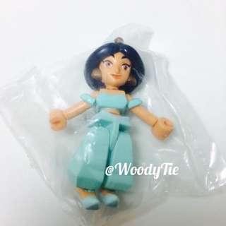 yujin 迪士尼 Disney 公主積木人 阿拉丁 神燈 茉莉 扭蛋 轉蛋 積木公仔