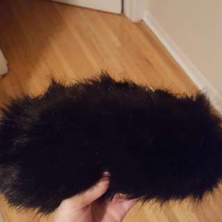 ALDO Black Faux Fur Headband
